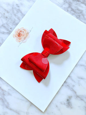 3 inch Stacked Bow on Headband or Clips
