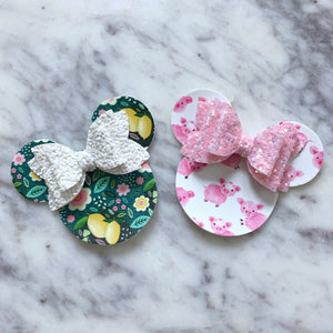 Minnie Mouse on Headbands Or Clips- PICK ONE