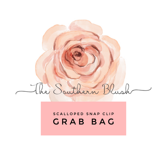 Scalloped Snap Clip GRAB BAG - READ DESCRIPTION BEFORE PURCHASING