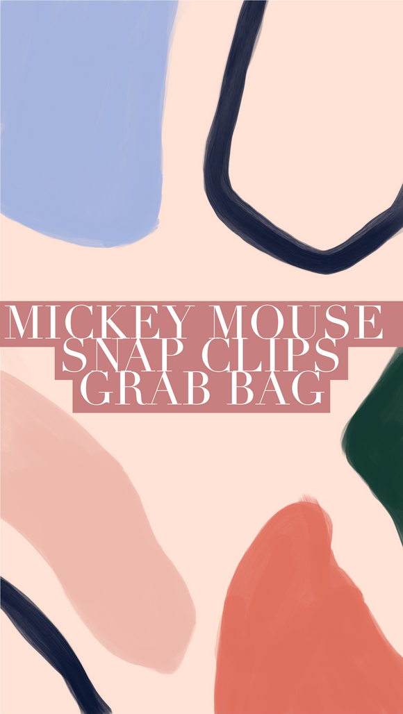 Minnie Mouse Snap Clip Grab Bag