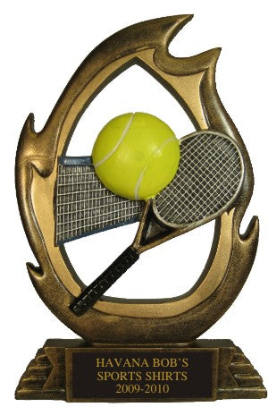 Tennis Flame Trophy