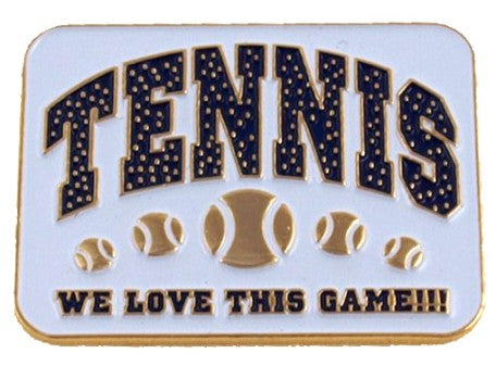We Love This Game Tennis Lapel Pin