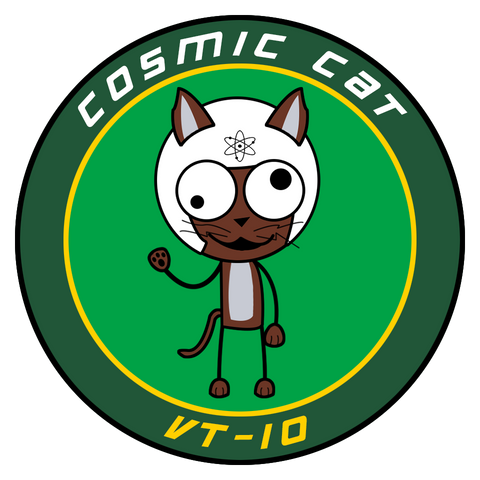 "VT 10 Cosmic Cat 3"" Shoulder Patch (3rd Gen)"