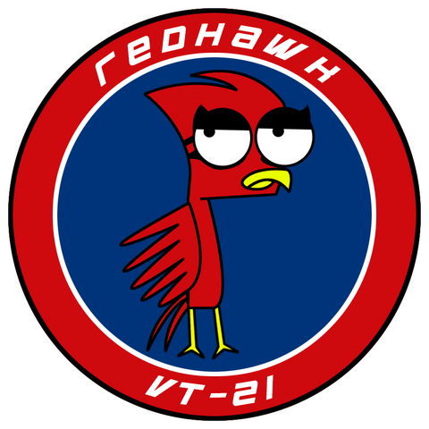 "VT 21 Red Hawk 3"" Shoulder Patch (3rd Gen)"