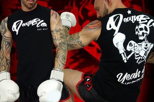Muay Thai sleeveless combat vest by Deathblo | Tougher than concrete