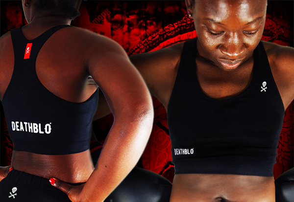 combat sports bra | Black Death Series  | DeathBlo