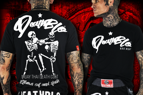 Elbows cut and slash T-shirt | DeathBlo