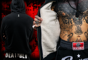 Fleecy 'warm as toast' hoody |Thai boxer Essential | DeathBlo