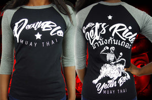 Muay Thai t shirts by Deathblo | ladies baseball tee