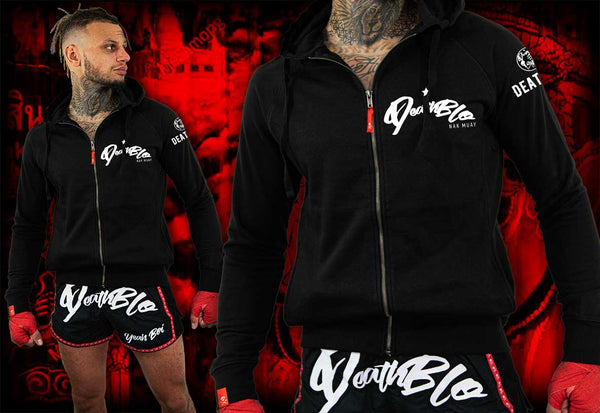 Unisex Muay Thai zip up fitted hoody | DeathBlo