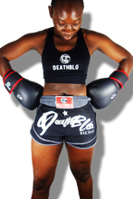 Load image into Gallery viewer, Hybrid sports/muay thai fighter shorts/unisex/DeathBlo