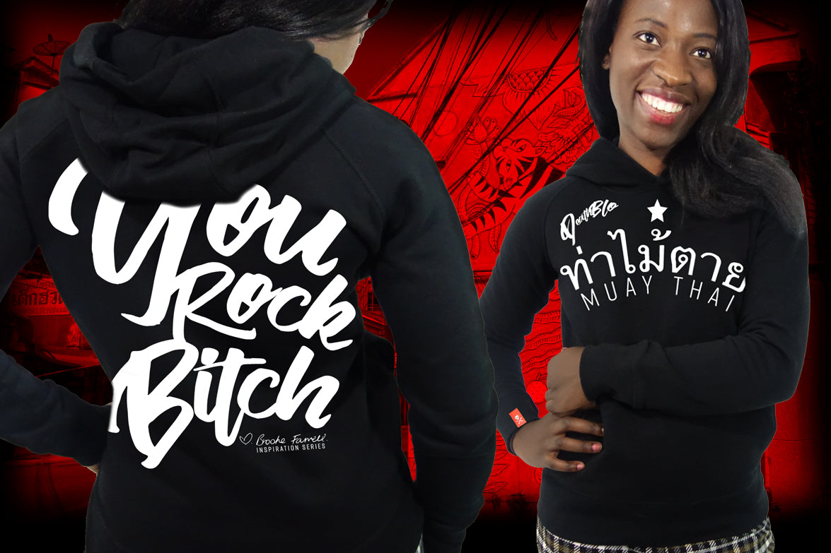 Ladies Muay Thai fitted hoody, You Rock by Brooke | DeathBlo