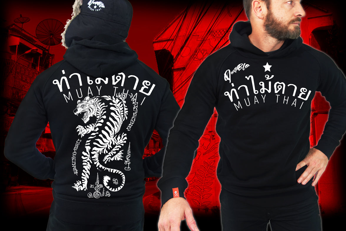 Muay Thai Hoody by Deathblo | Fighting Tiger