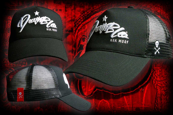 Midnight Nakmuay Trucker baseball cap | DeathBlo