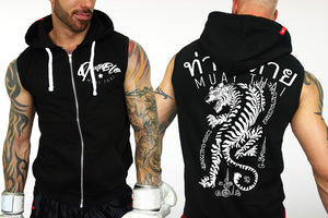 Muay Thai sleevelss hoody by Deathblo | Fighting Tiger