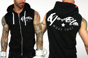 Muay Thai Sleeveless Hoody by Deathblo | DeathBlo Essential