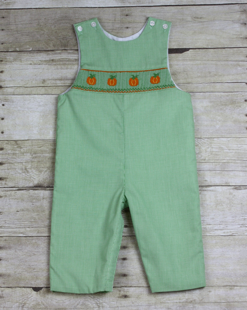 Pumpkin Smocked Long-all