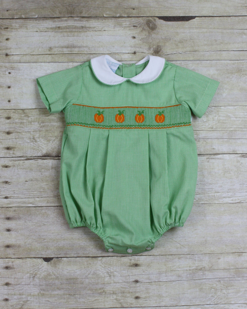 Pumpkin Smocked Bubble