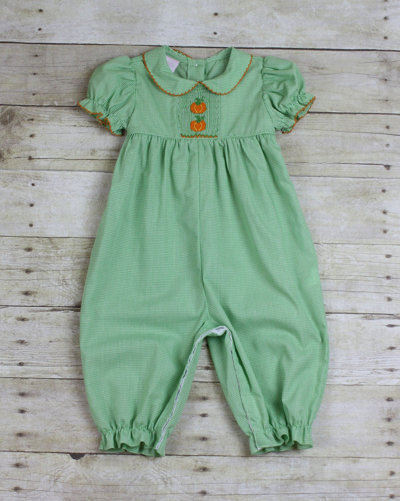 Pumpkin Smocked Romper