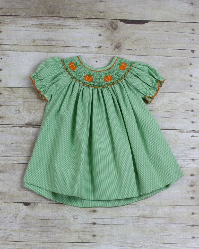 Pumpkin Smocked Dress