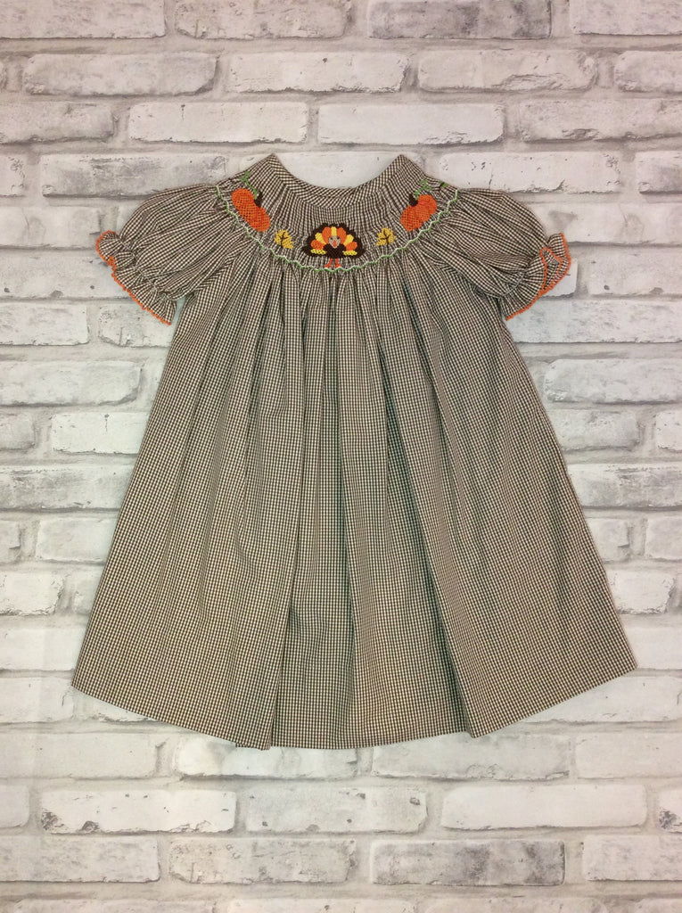 Smocked Turkey Dress