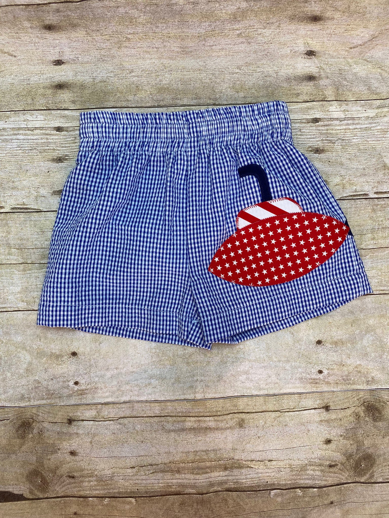 Red White & Blue Submarine Swiming Trunks