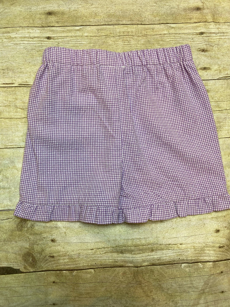 Checked Ruffle Shorts