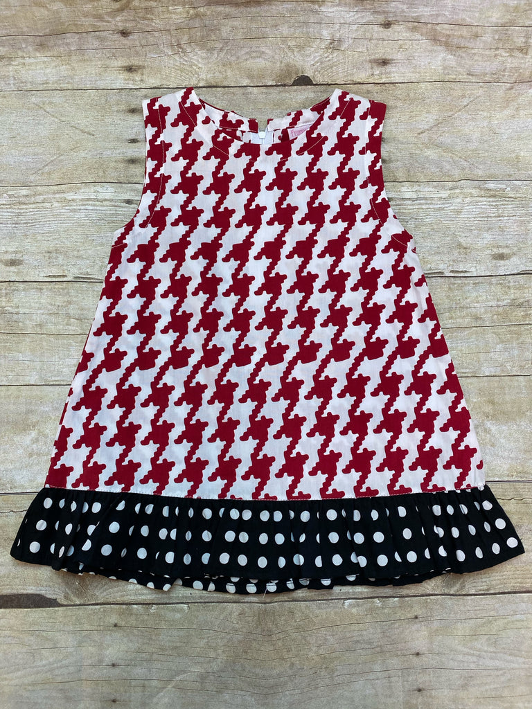 Houndstooth Game Day A-line Dress