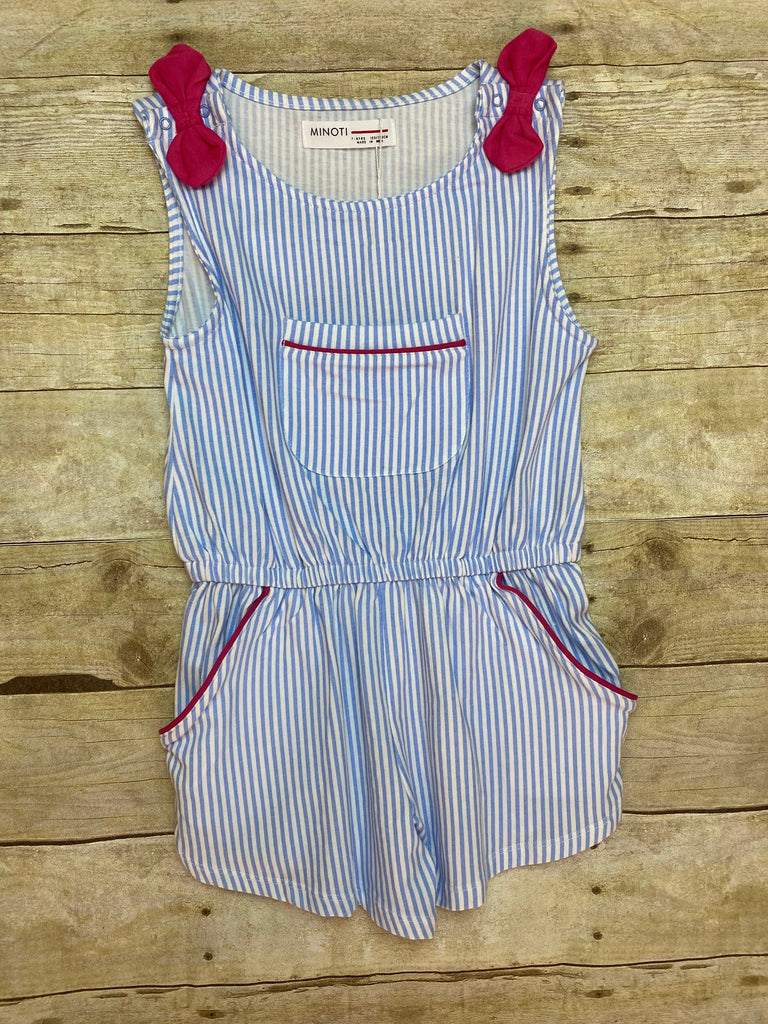 Stripe Romper with Bows
