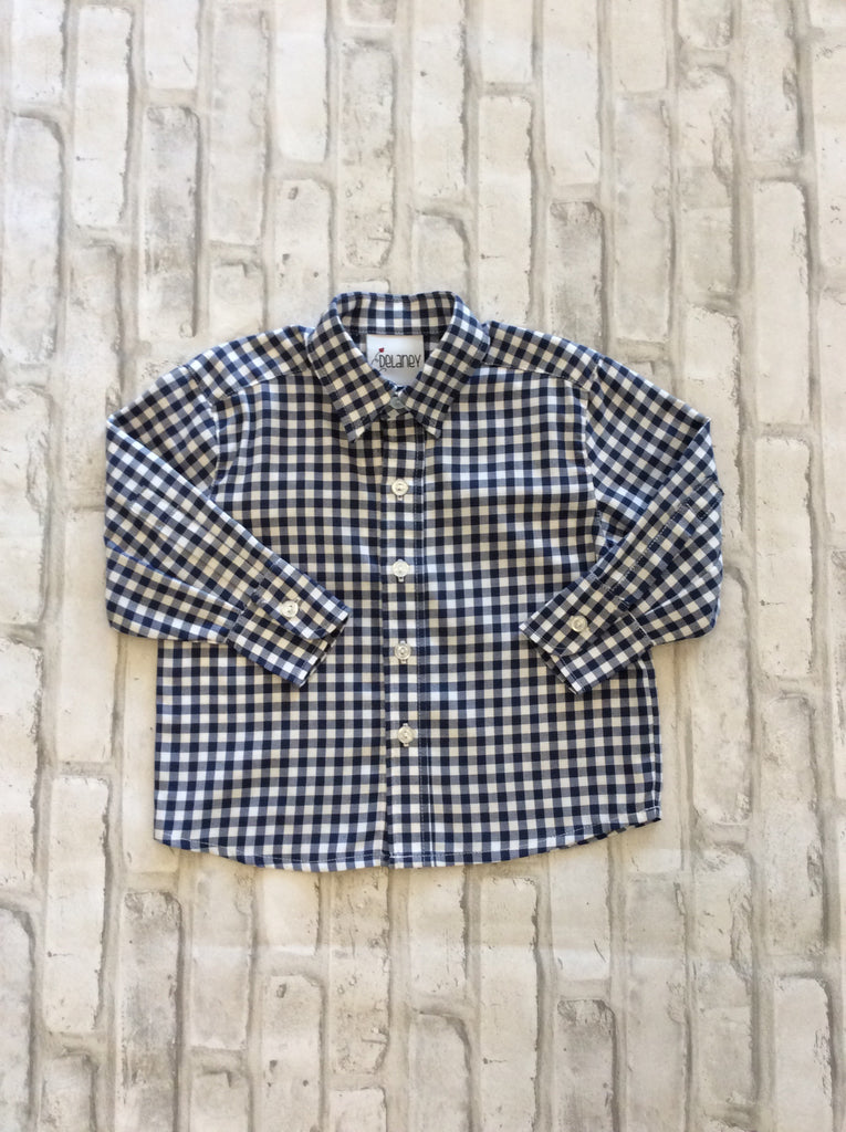 Navy/White Checkered Shirt