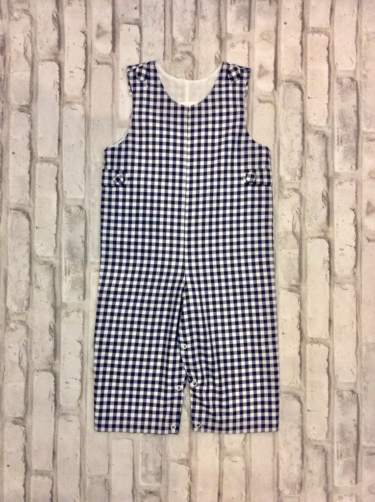 Navy Checkered Longall