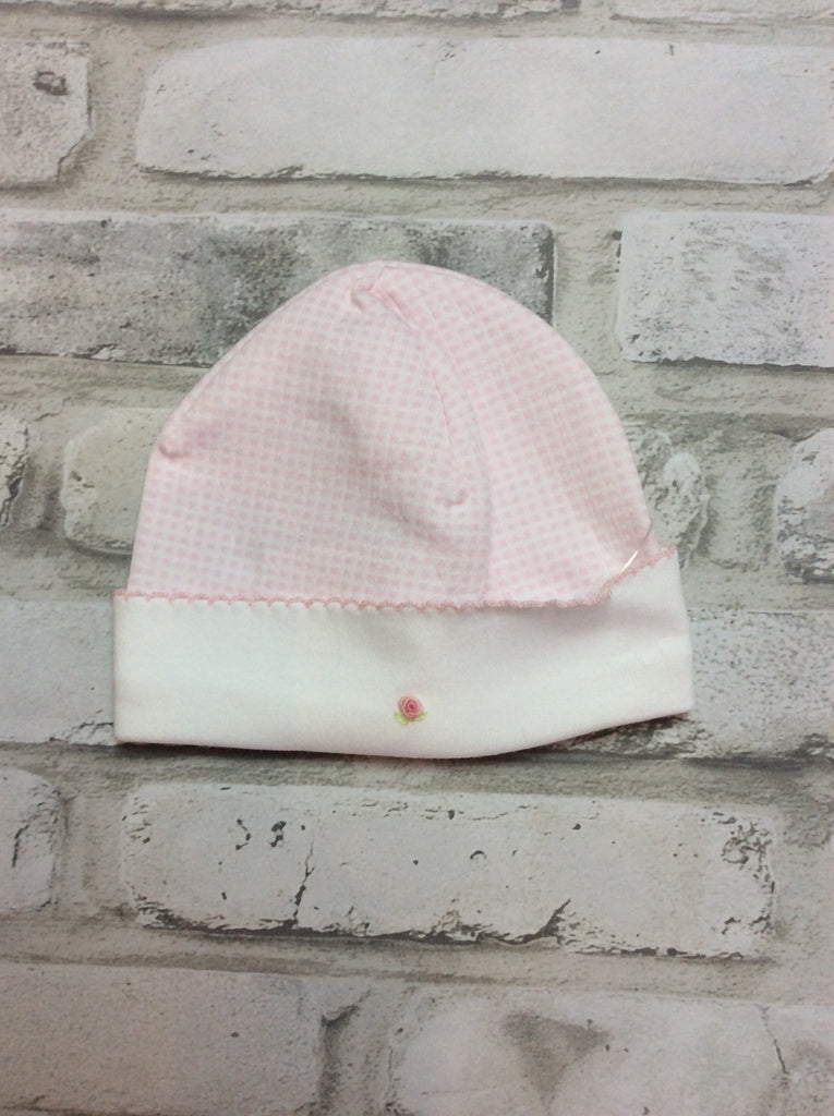 Pink Checked Hat