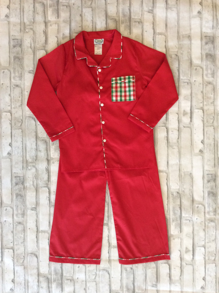 Plaid Pocket PJ Set