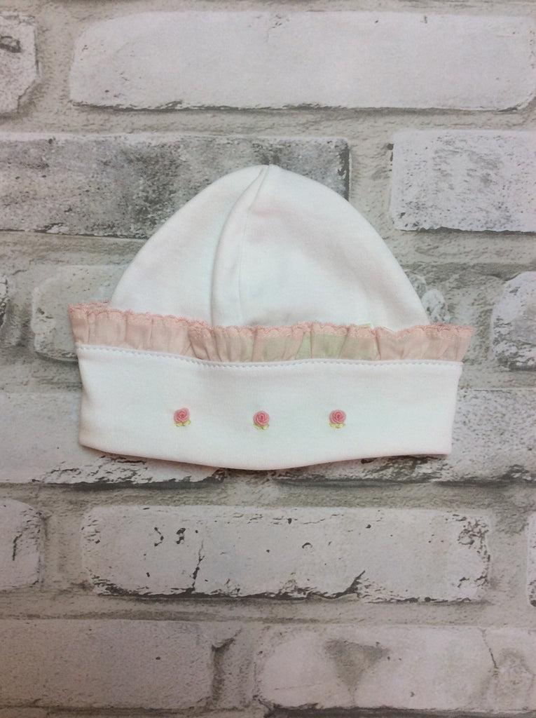 White/Pink Embroidered Hat