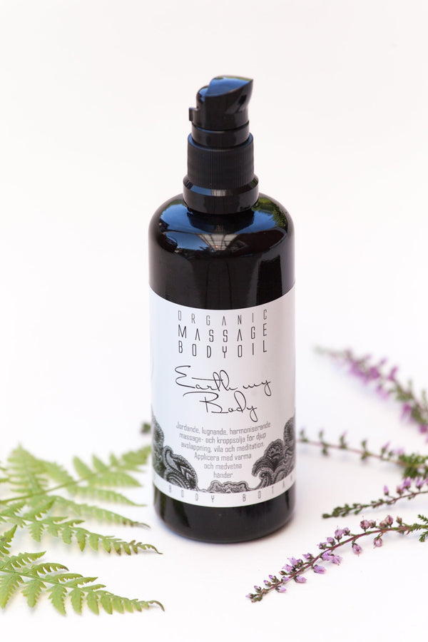 Earth My Body - Organic Massage- and Body oil. Relaxing, grounding, harmonizing.