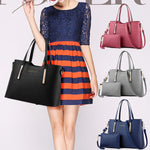 2pcs Womens Leather Shoulder Bag Top-handle Handbags Tote Purse Bags - Endless curve