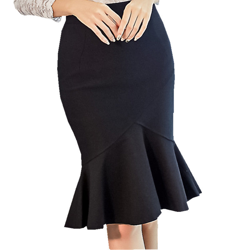 Plus Size Sexy Knee-length Ruffles Mermaid Bodycon Skirts - Endless curve