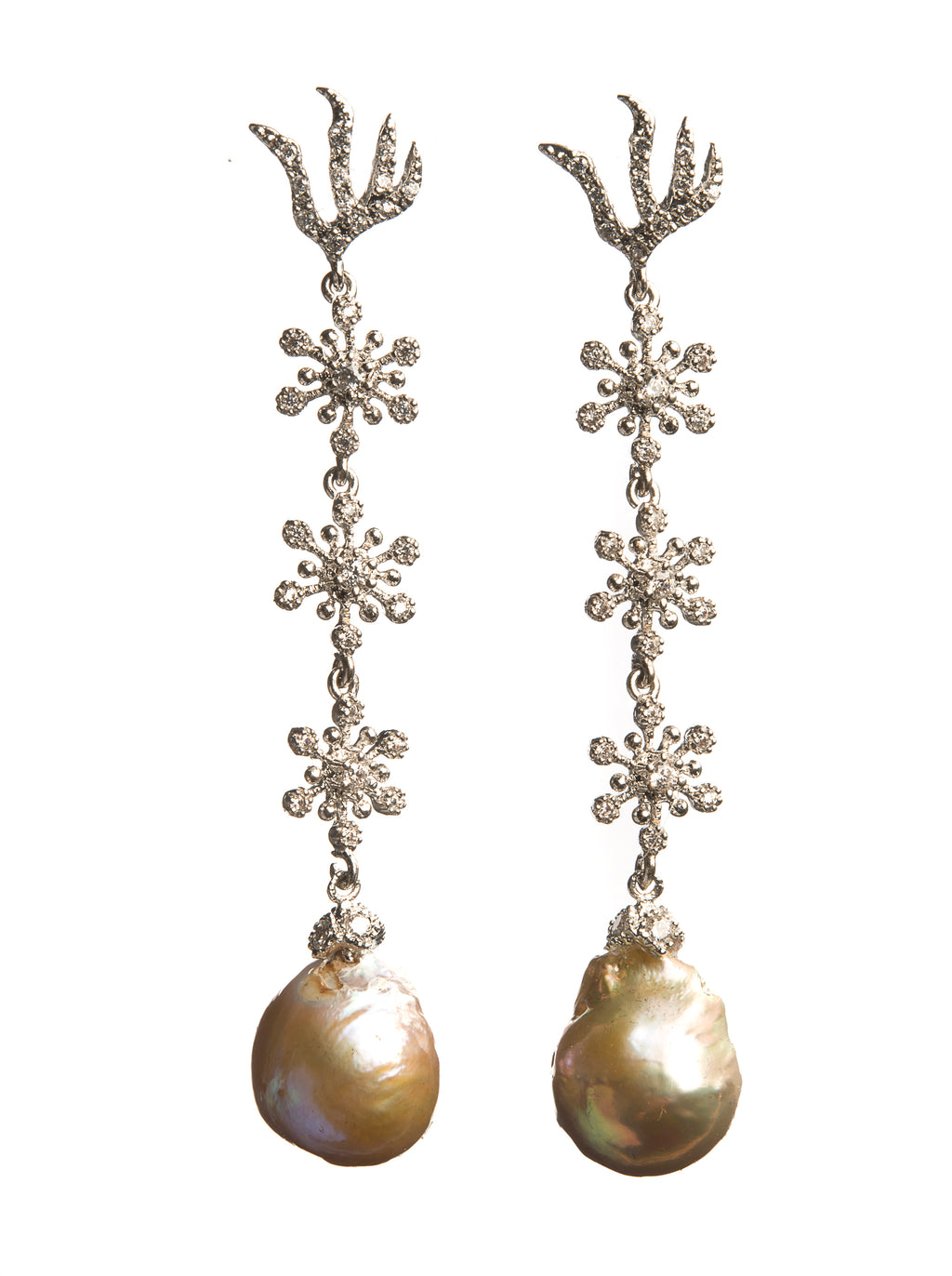 Pearl Earrings Iris - Ava Cadiz