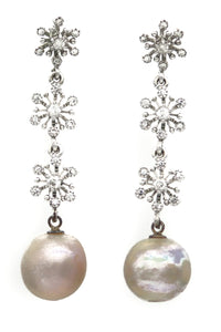 Pearl Earrings Ain - Ava Cadiz