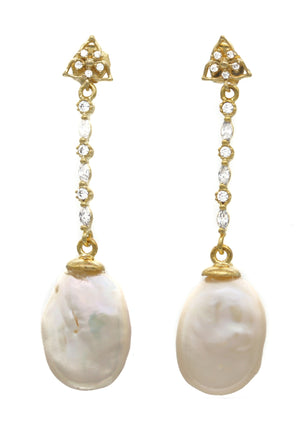 Pearl Earrings Zeide - Ava Cadiz
