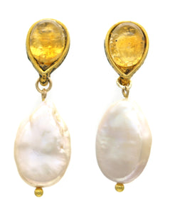 Pearl Earrings Nilo - Ava Cadiz
