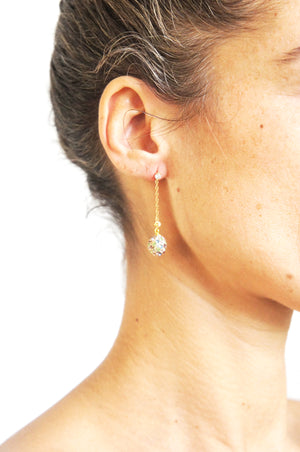 BLING BALL EARRINGS - Ava Cadiz