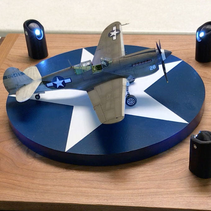 Turntable Display Base for Scale Aircraft and Armor