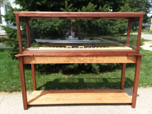 Load image into Gallery viewer, 60 Inch Hardwood Ship Display Case Table