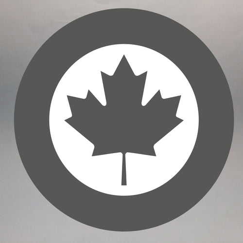 Canadian Modern Low-Viz Roundel Painted Display Base