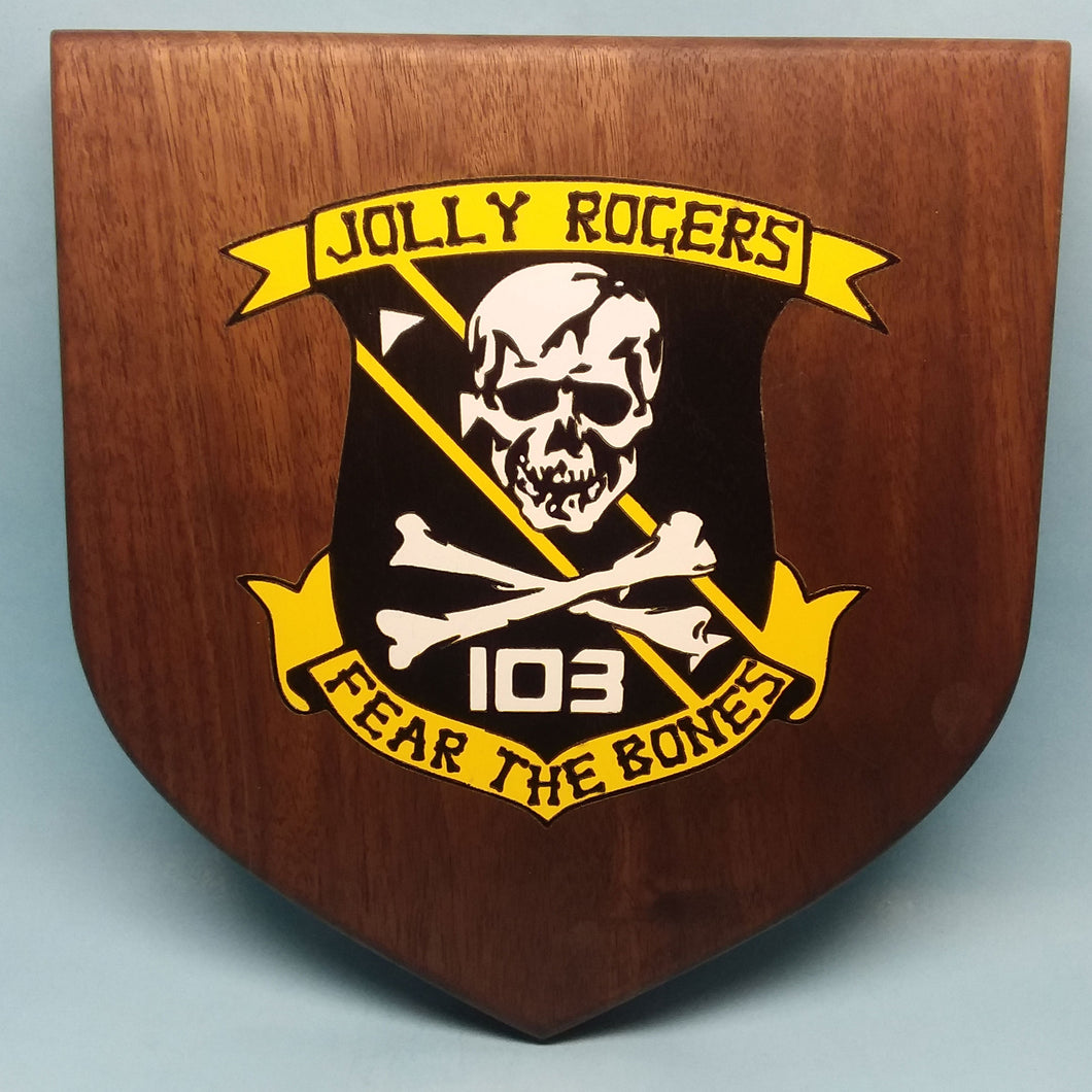 VF-84 Jolly Rogers Painted Display Base