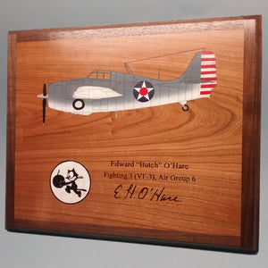 Butch O'Hare F4F Painted Display Base