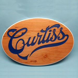 Curtiss Oval Painted Display Base