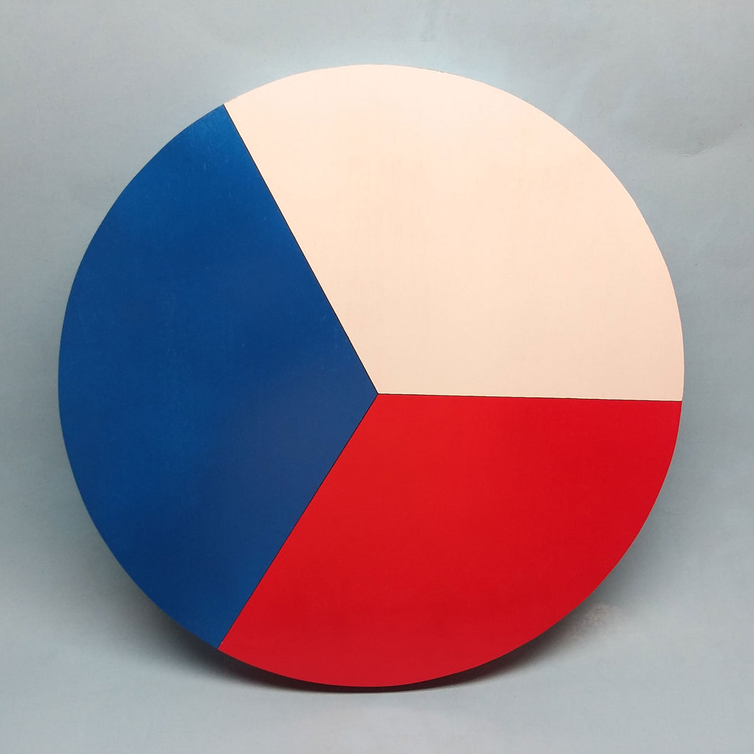Czech Roundel Painted Display Base
