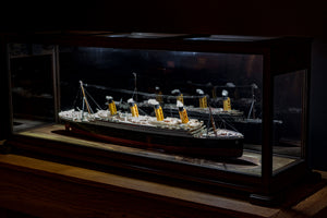 36 Inch Hardwood Ship Display Case
